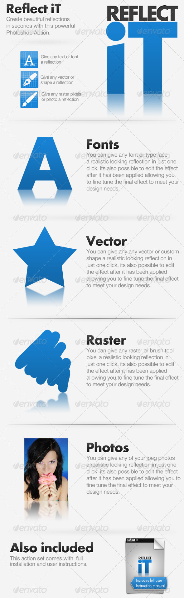 Reflect iT - Text Effects Actions