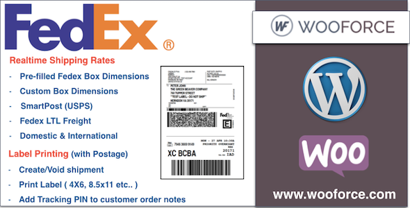 CodeCanyon Fedex WooCommerce Shipping with Print Label 11263057