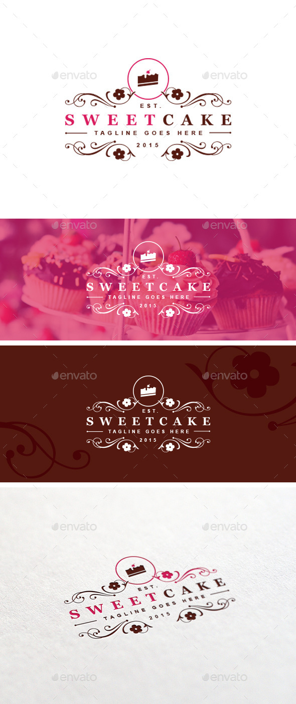 GraphicRiver Sweet Cake Logo Template 11263067