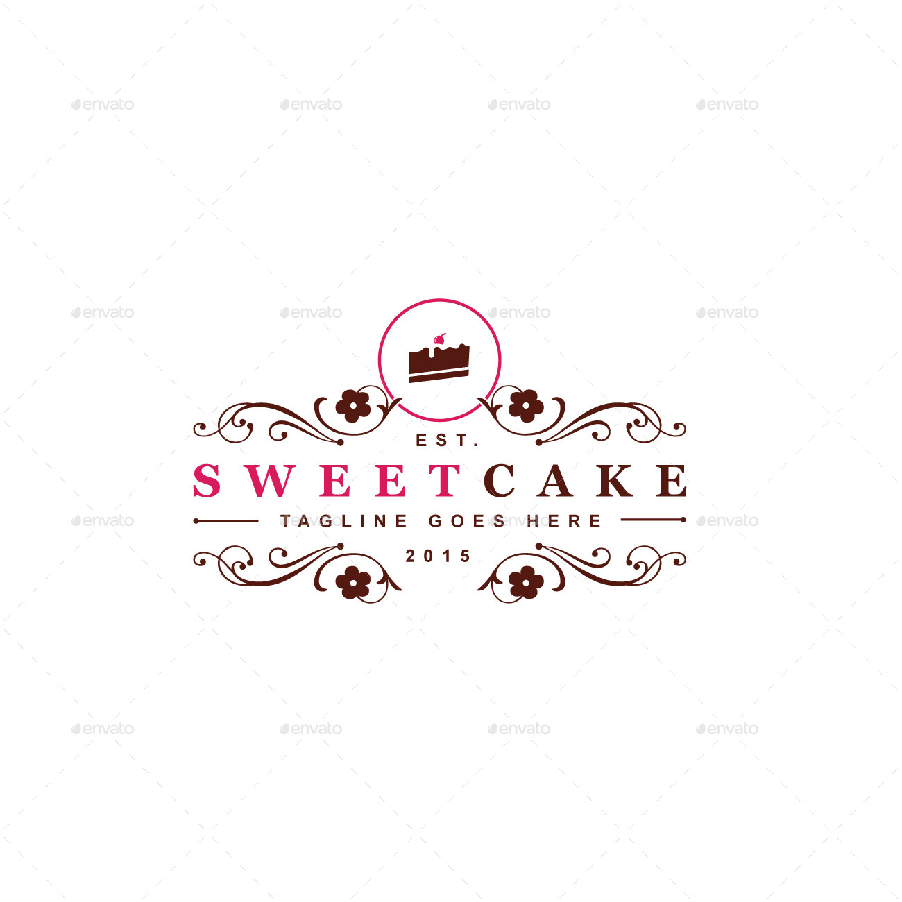 Sweet Cake Logo Template by designgarrad GraphicRiver