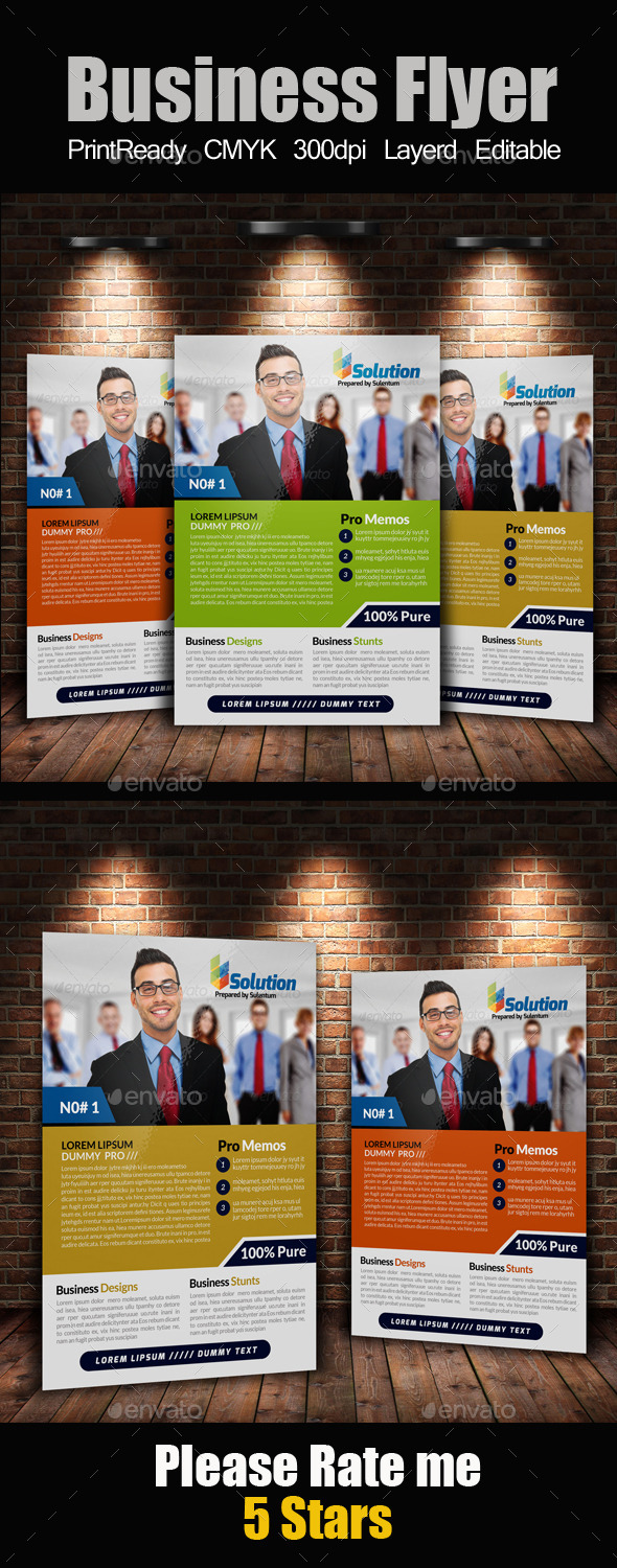 GraphicRiver A4 Business Flyer Template 11263080
