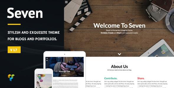 Seven - Stylish WordPress Theme