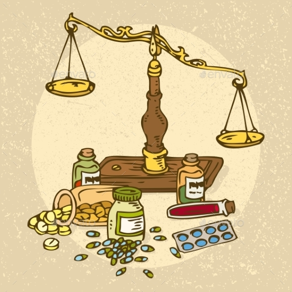 GraphicRiver Pharmaceutical Scales And Pills 11263275