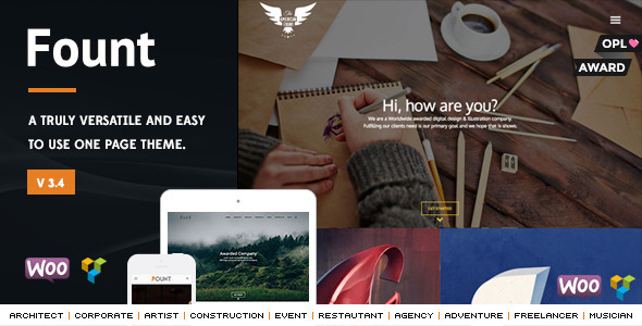 Fount - One & Multipage Hybrid WordPress Theme