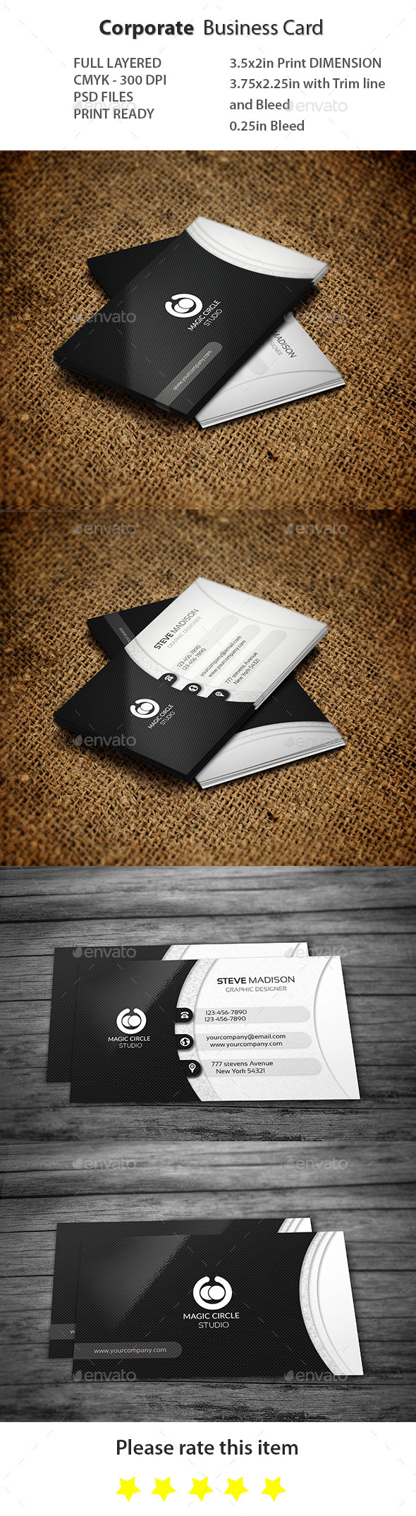 GraphicRiver Corporate Business Card 11263358