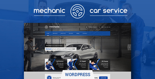 ThemeForest Mechanic Car Service & Workshop WordPress Theme 11200490