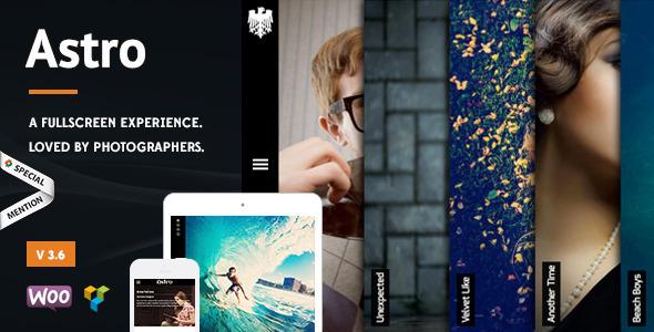Astro - Showcase/Photography Wordpress Theme - Photography Creative