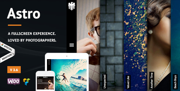 Astro - Showcase/Photography Wordpress Theme