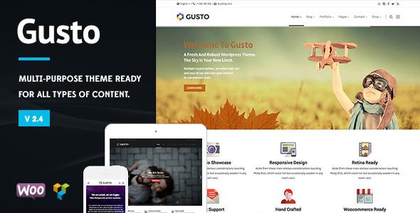 Gusto - Vanguard Wordpress Theme