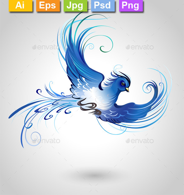 GraphicRiver Blue Bird 11263435