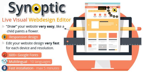 CodeCanyon Synoptic Live Visual Webdesign Editor AJAX&PHP 11263498