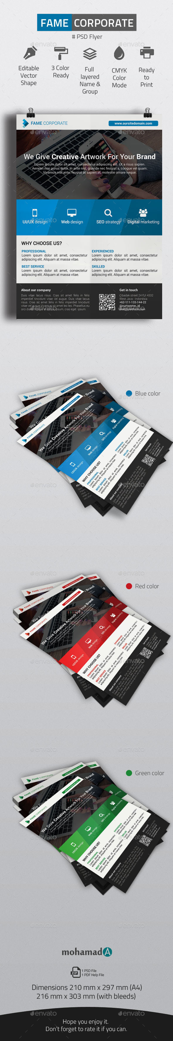 GraphicRiver Fame Corporate Flyer 11263505