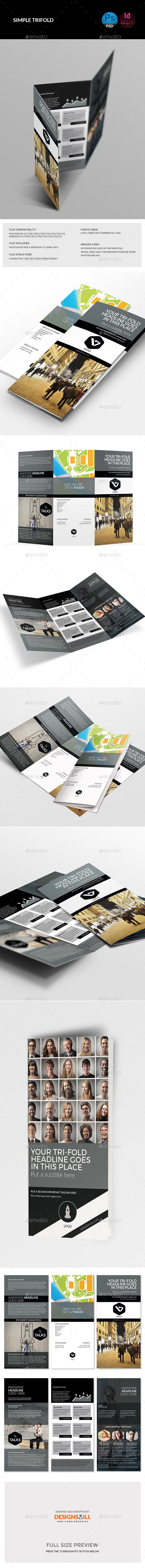 GraphicRiver Minimal Tri-Fold Brochure Temaplate 11263526