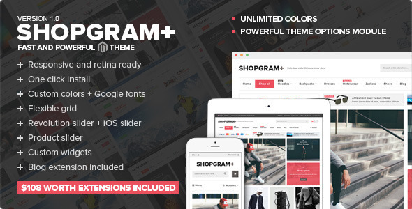 ThemeForest Shopgram Responsive Magento Theme 11263735