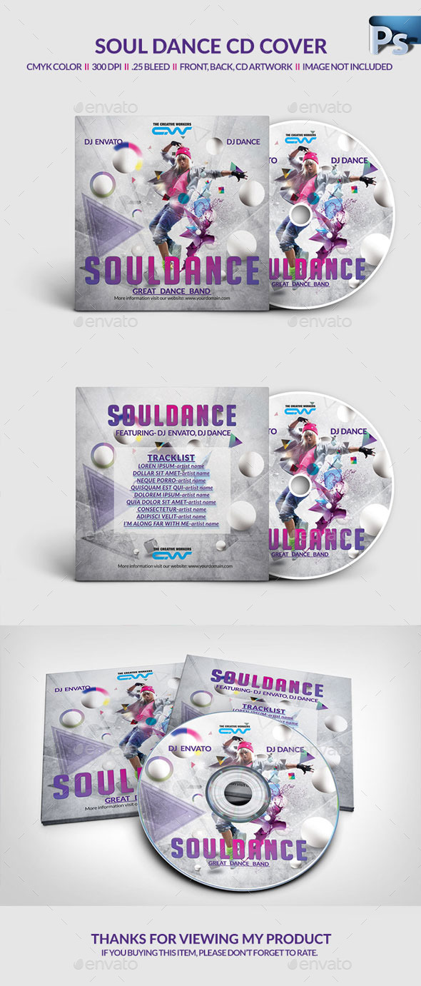 GraphicRiver DJ Dance CD Cover 11263746