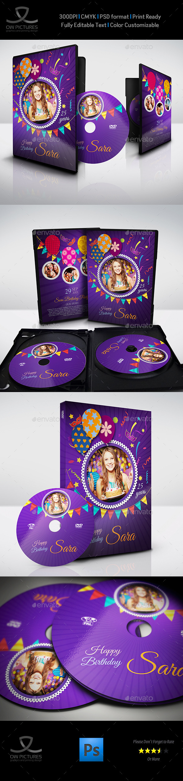 GraphicRiver Birthday Party DVD Cover and DVD Label Template 3 11264169