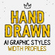 AI Hand drawn styles and brushes - GraphicRiver Item for Sale