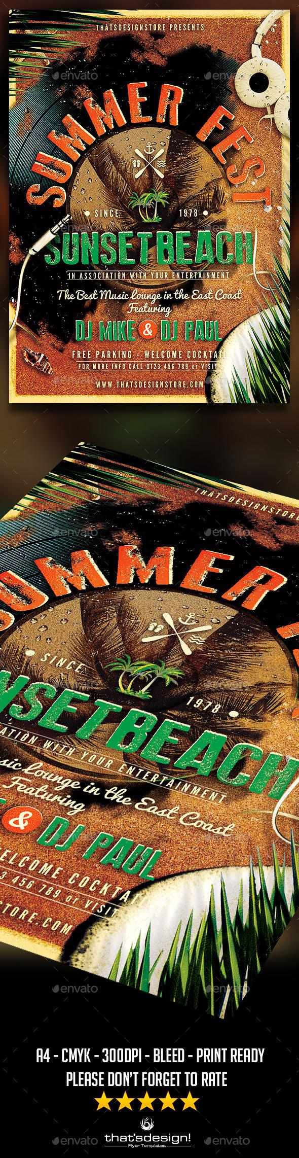 GraphicRiver Summer Fest Flyer Poster Template 11264310
