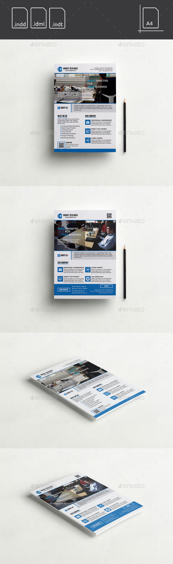 GraphicRiver Flyer Market Analysis Company 11264321