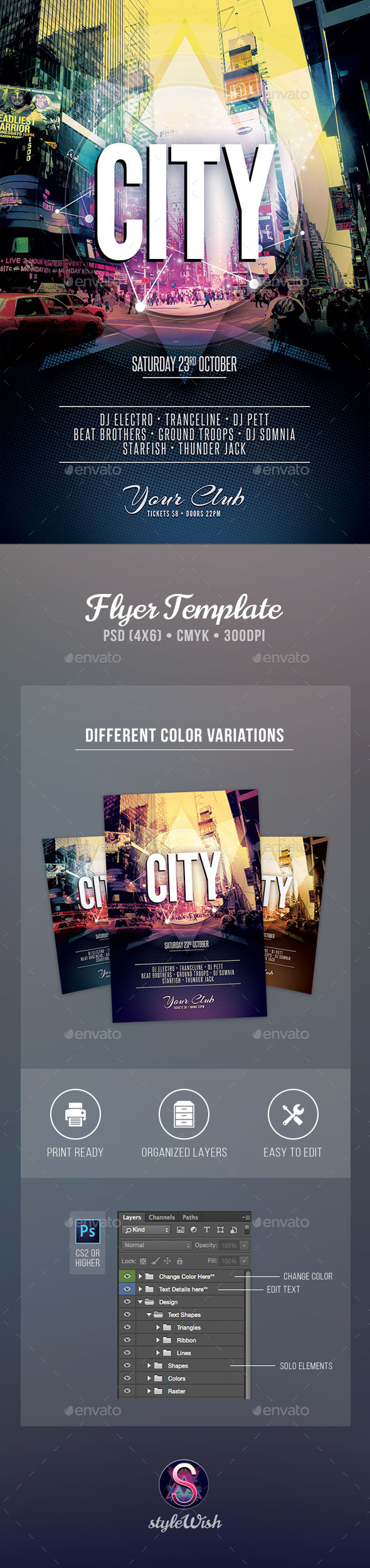 City Flyer Template - Concerts Events