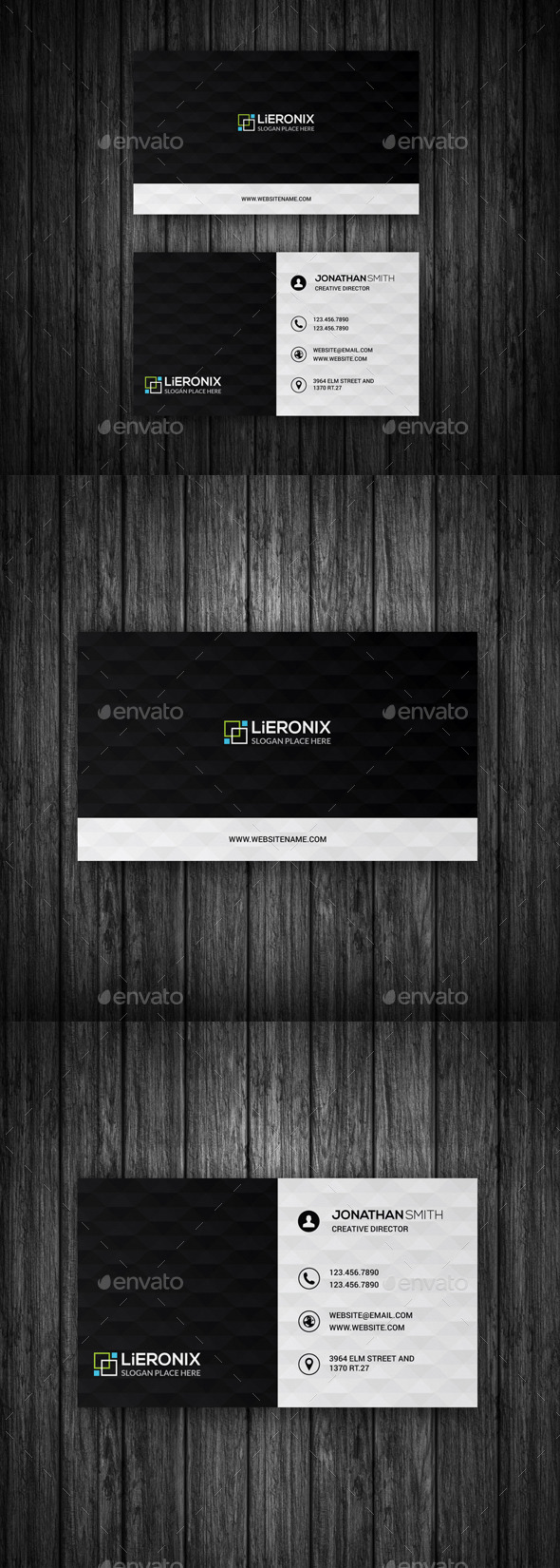 GraphicRiver Geometric Pattern Business Card 11264650