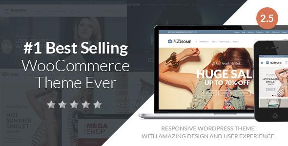Flat Responsive WooCommerce Theme - WooCommerce eCommerce
