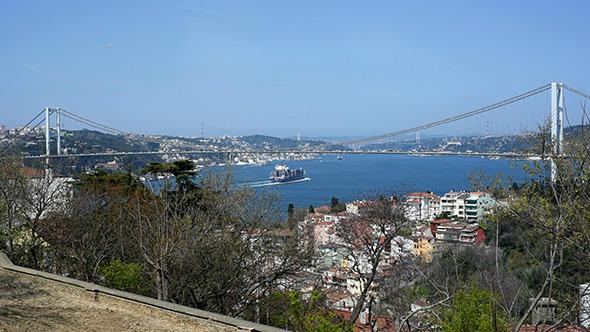 Bosphorus Bridge and Fatih Sultan Mehmet Bridge