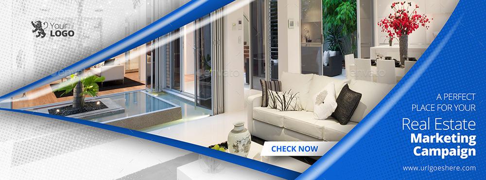 glossy real estate facebook covers by belegija
