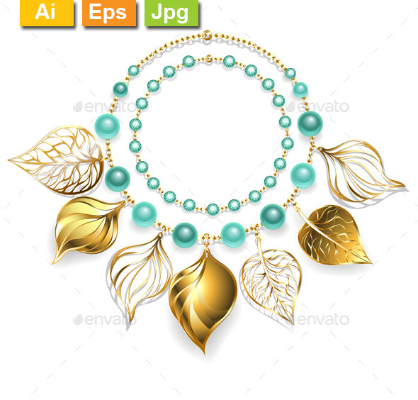 GraphicRiver Necklace of Golden Leaves 11265048