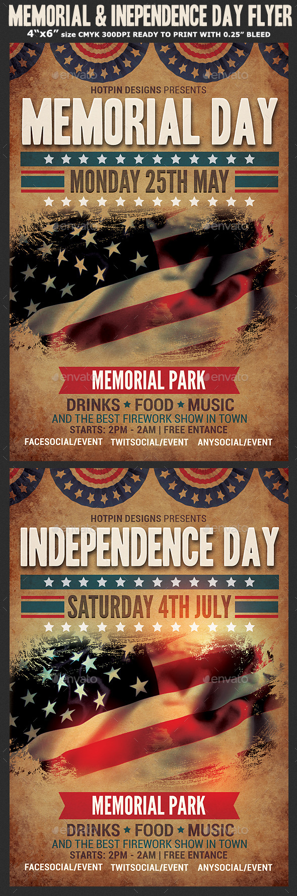 GraphicRiver Memorial & Independence Day Flyer Template 11265057