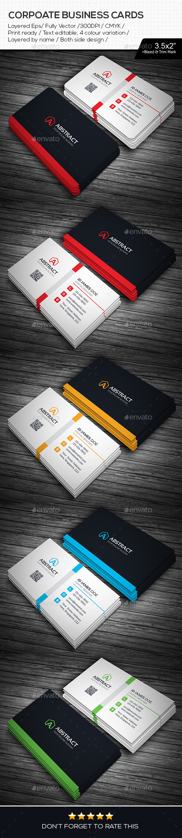GraphicRiver Abstract Corporate Business Cards 11265086