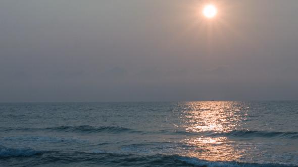Sunlight Reflection On Sea
