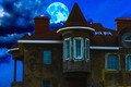 house night and the moon - PhotoDune Item for Sale