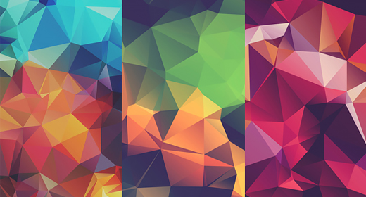Low-Poly Polygonal Background Textures