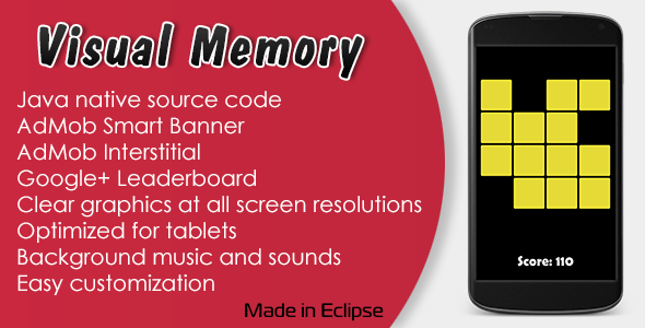 CodeCanyon Visual Memory Game with AdMob and Leaderboard 11265345