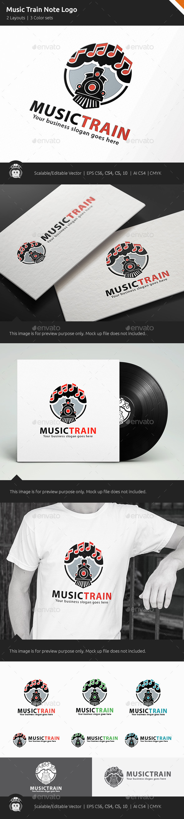 GraphicRiver Music Train Note Logo 11266020