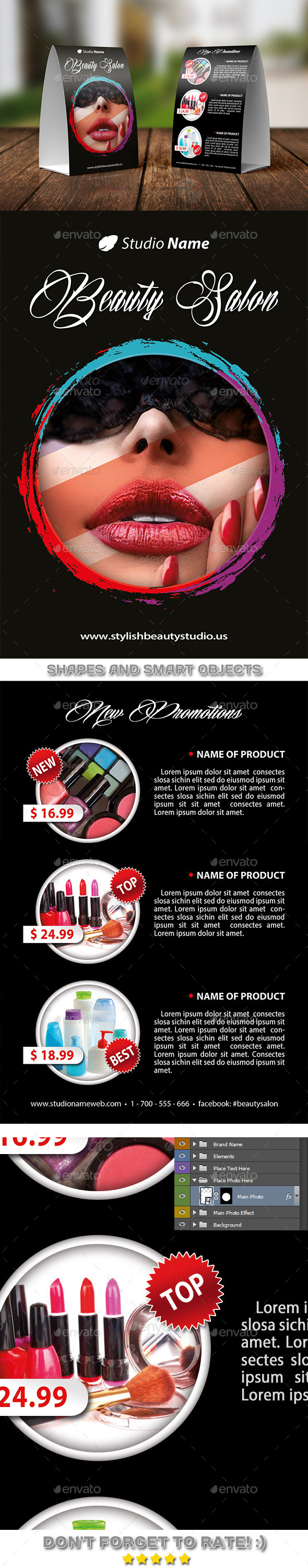 GraphicRiver Stylish Beauty Salon Table Tent Template 03 11266081
