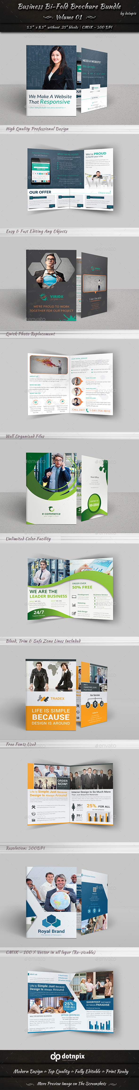 GraphicRiver Business Bi-Fold Brochure Bundle Volume 1 11266155