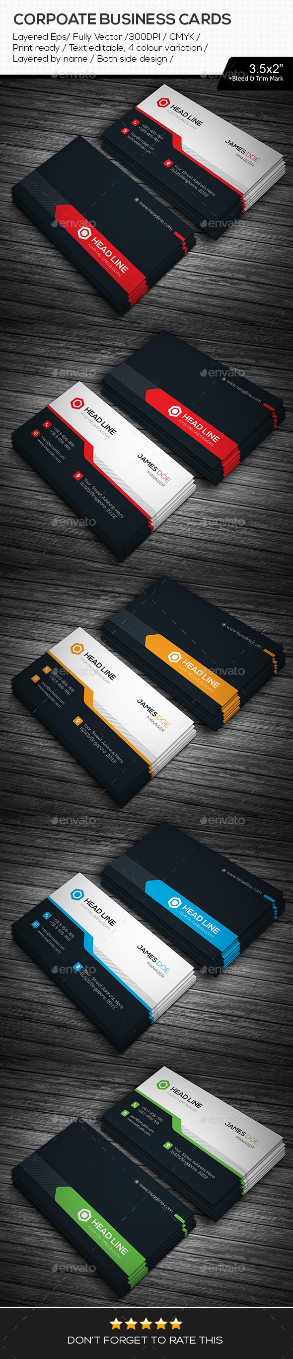 GraphicRiver HEAD LINE Corporate Business Cards 11266254