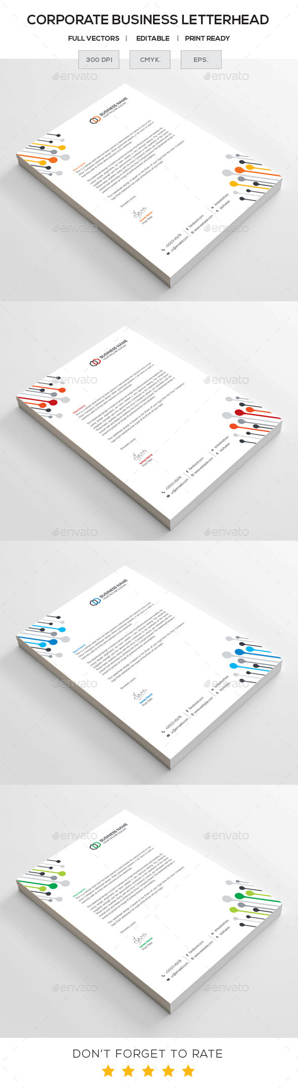 GraphicRiver Corporate Letterhead 11266446