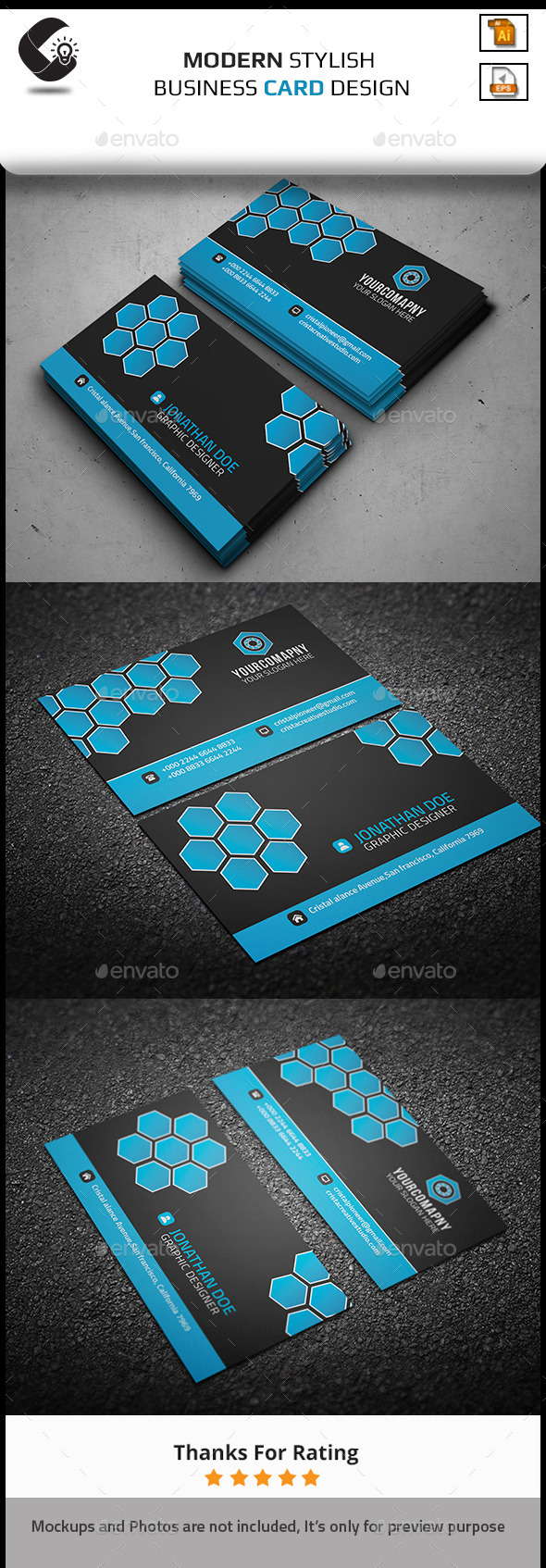 GraphicRiver Modern Corporate Business Card 11267442