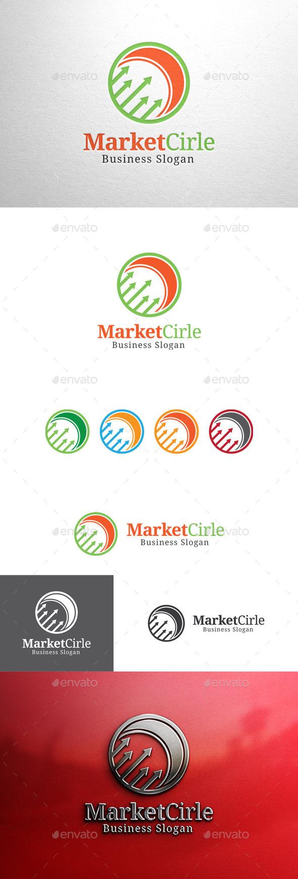 GraphicRiver Market Cirle Graph Logo 11267572