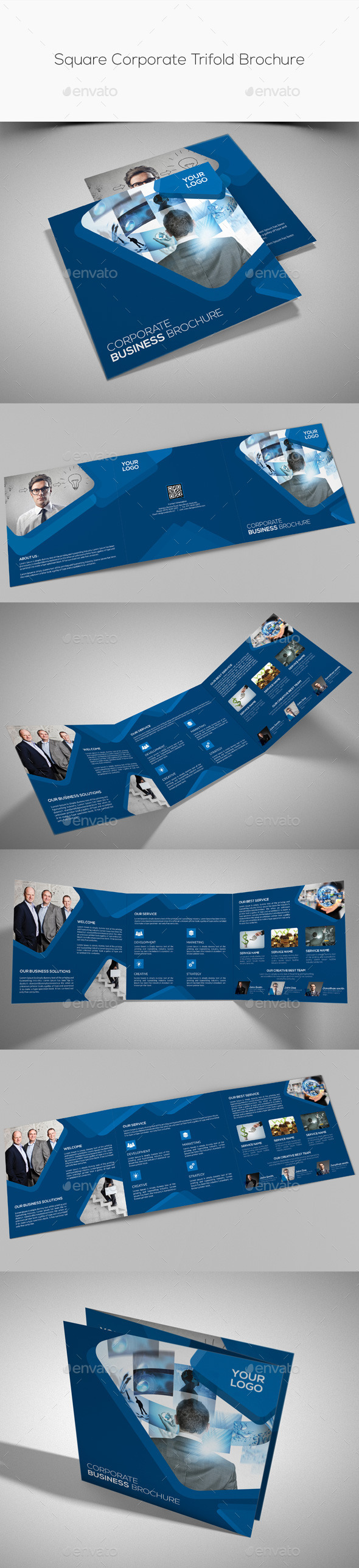 GraphicRiver Square Corporate Trifold Brochure 11267590
