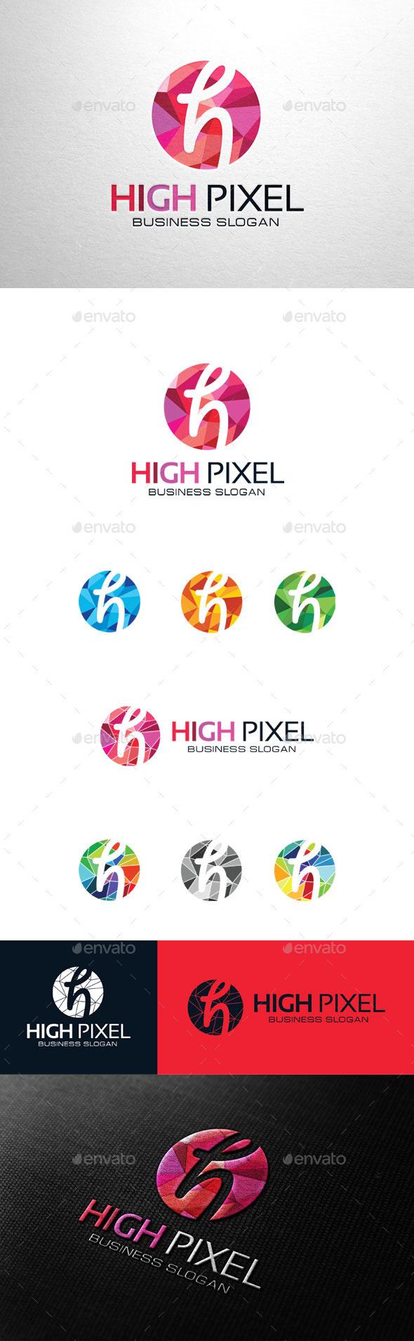 GraphicRiver High Pixel Letter H Logo 11267600