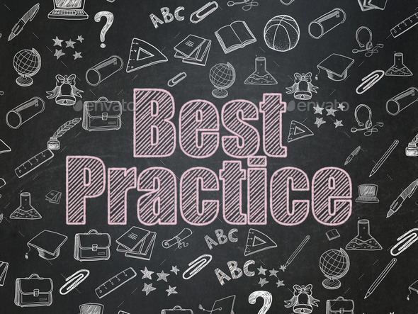 Education concept: Best Practice on School Board background