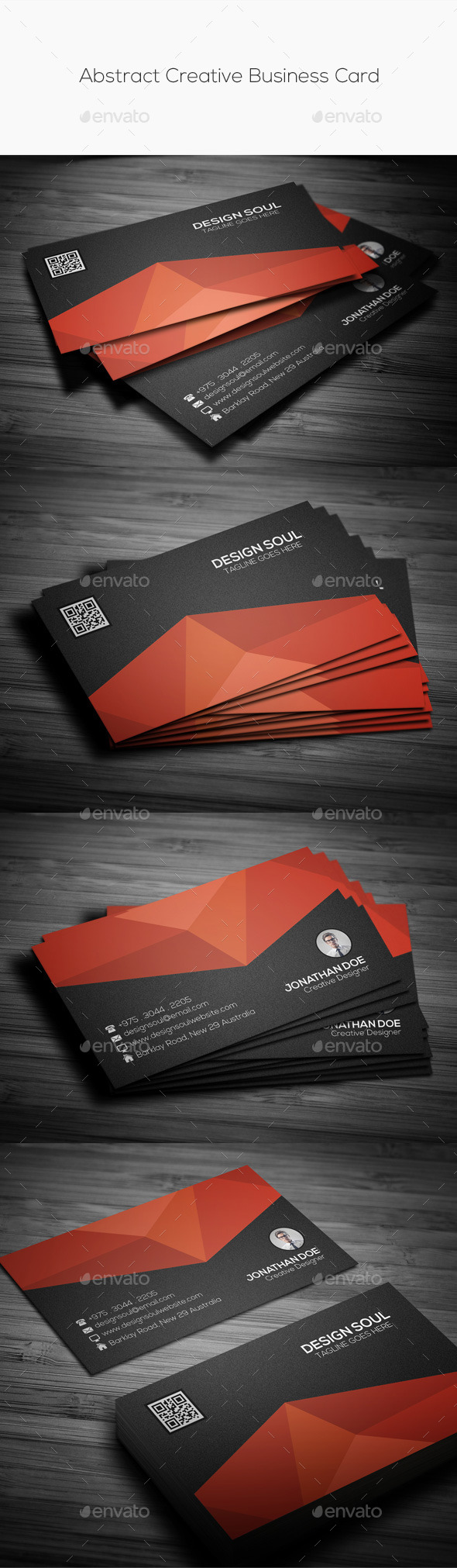 GraphicRiver Abstract Creative Business Card 11267766