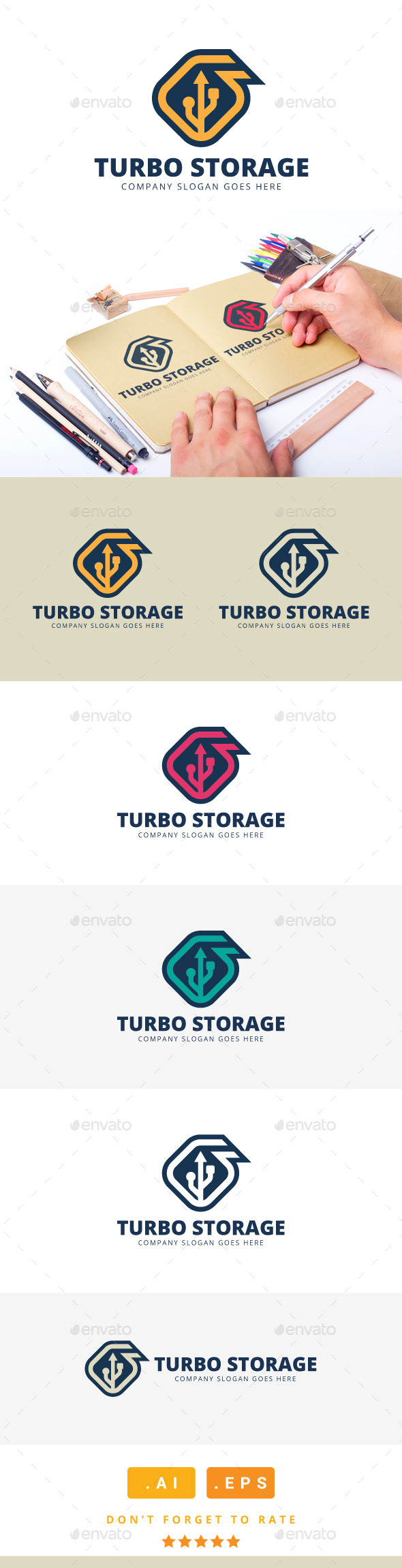 GraphicRiver Turbo Storage Logo V.2 11267769