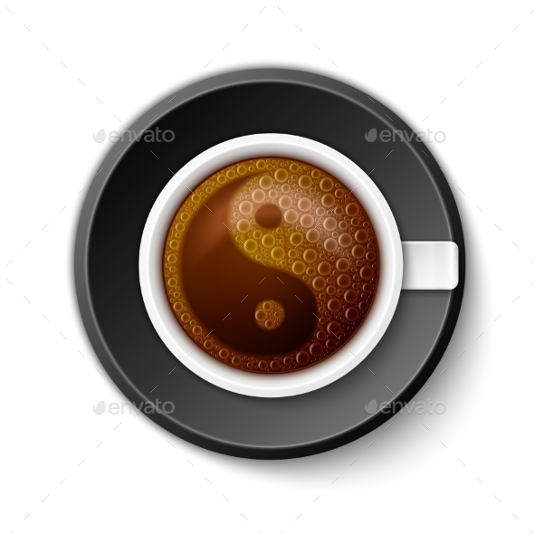 GraphicRiver Coffee Cup with Yin-Yang Symbol 11267849