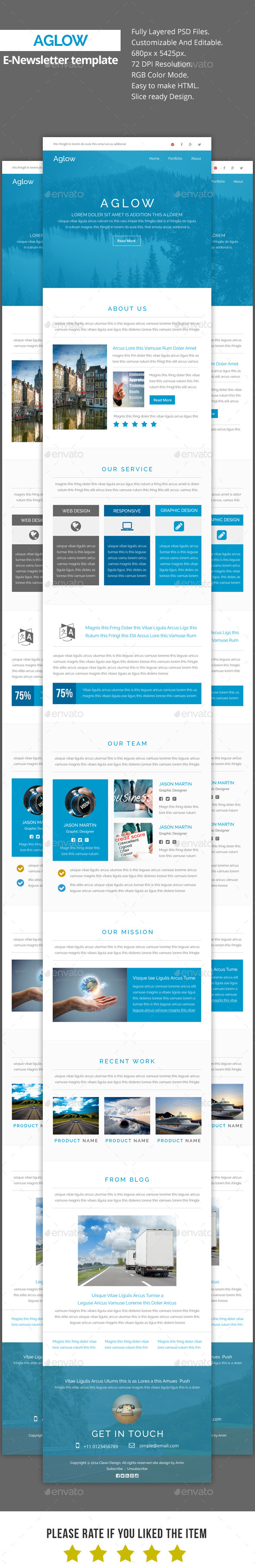 GraphicRiver Aglow Multipurpose E-Newsletter Template 11267879