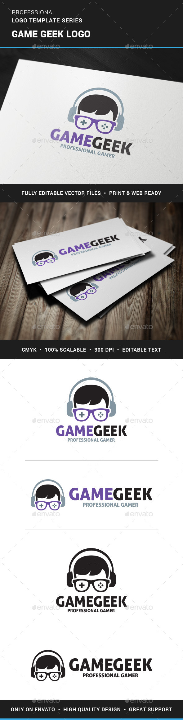 GraphicRiver Game Geek Logo Template 11267935